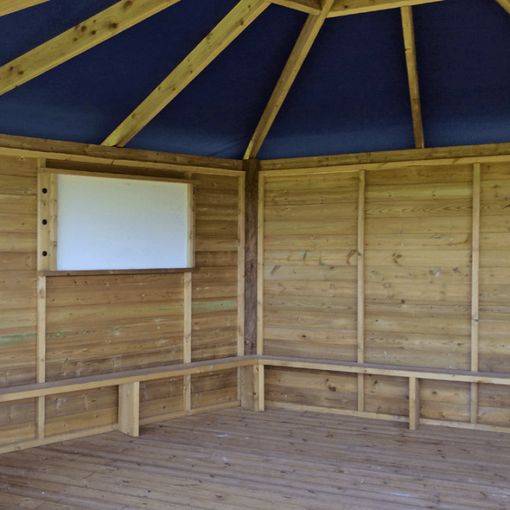 Gazebo with Full Height Walls Inside