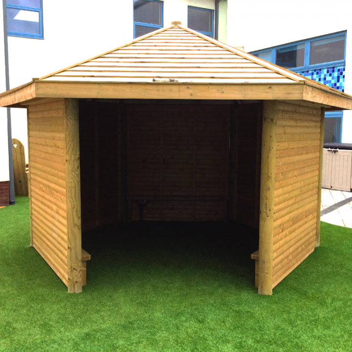 Gazebo with Full Height Walls