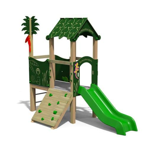 Jungle Themed Twin Deck Playground Tower