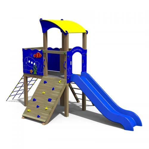 Atlantis Themes Twin Deck Play Tower