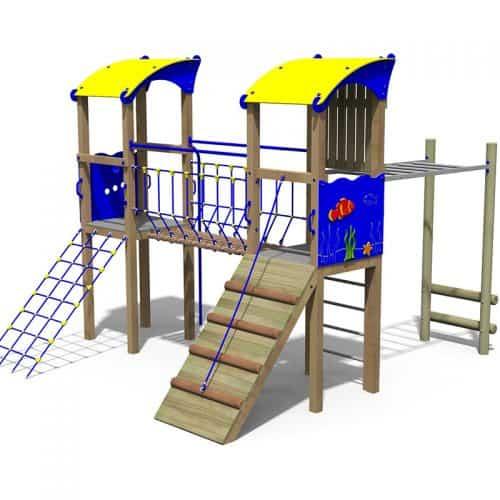 Atlantis Themed Double School Play Tower