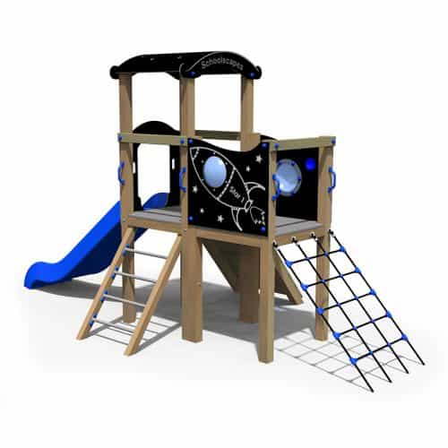 Space Themed Twin Deck Playground Tower