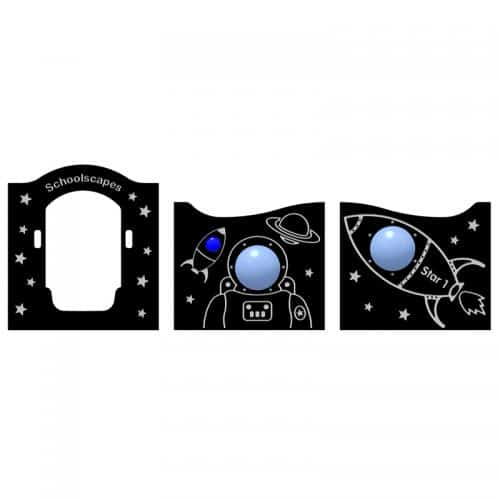 Space Themed Twin Deck Play Tower Panels