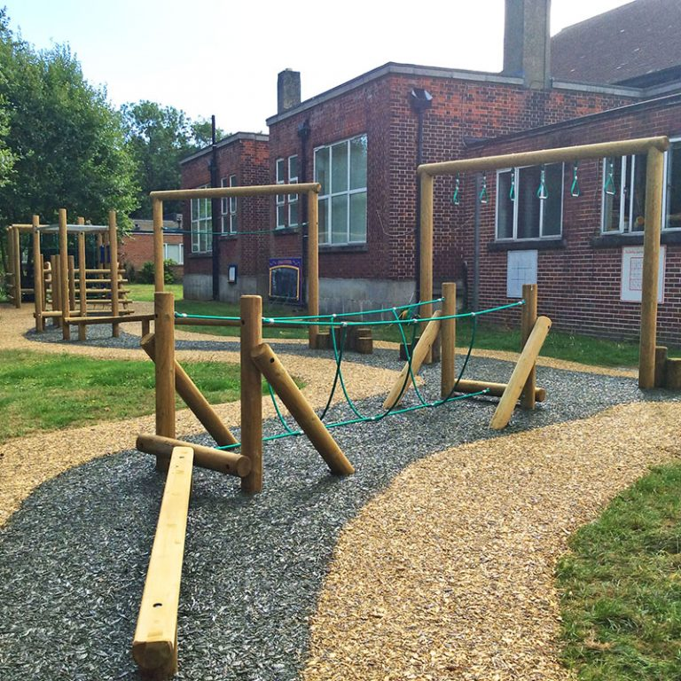 Resin Bound Bark Play Trail Surface