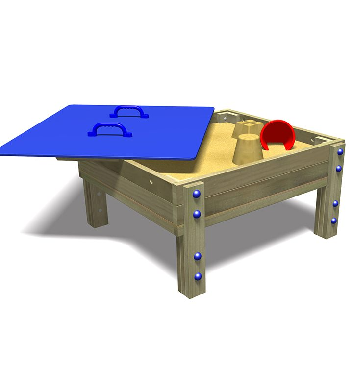 Sandpit Table with Removable Lid (Open)