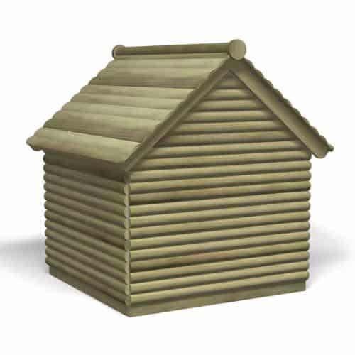 Log Play Hut (Back)