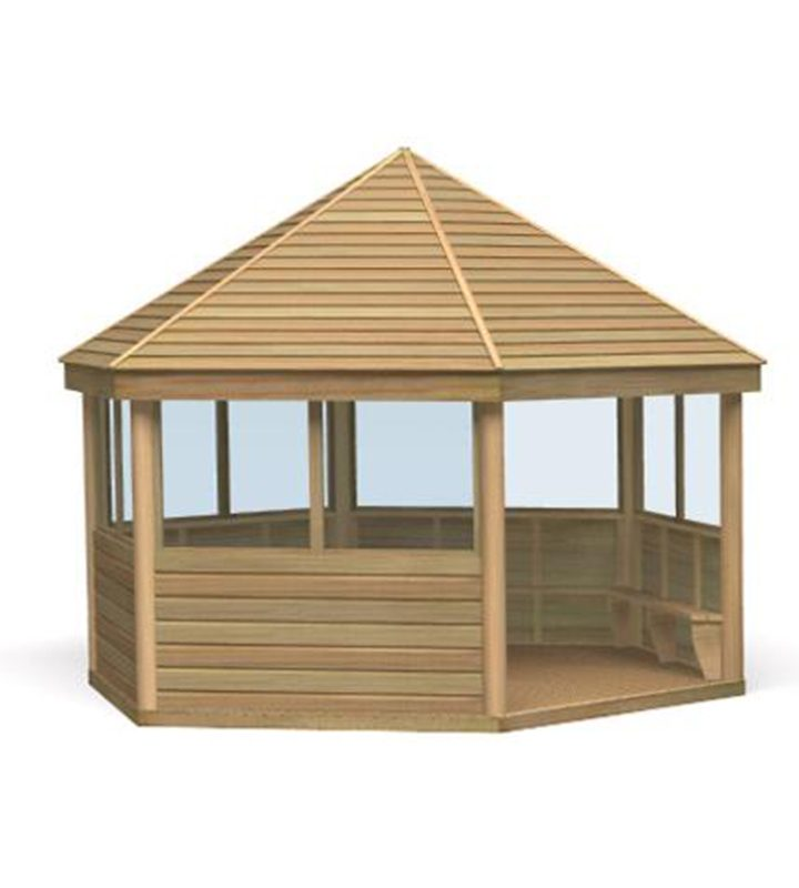 Timber Gazebo with Polycarbonate
