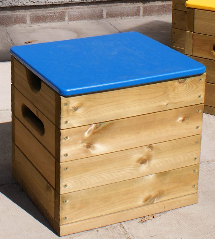 Seating Cube with HDPE Lid (Blue)