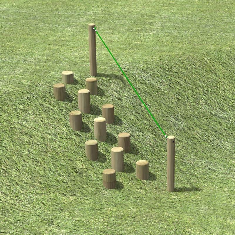 Bank Stepping Logs