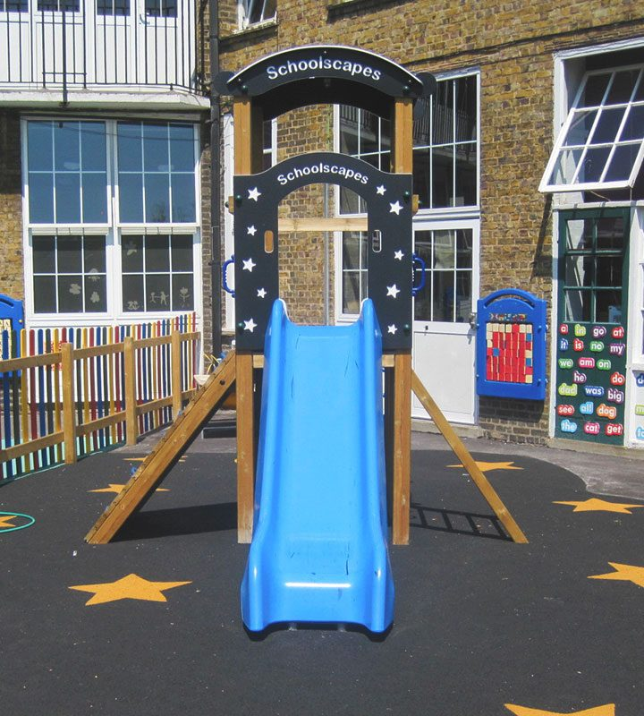 SpaceThemedSingleTowerSlide SchoolPlaygroundTower