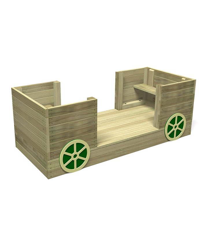Play Carriage With Green Wheels