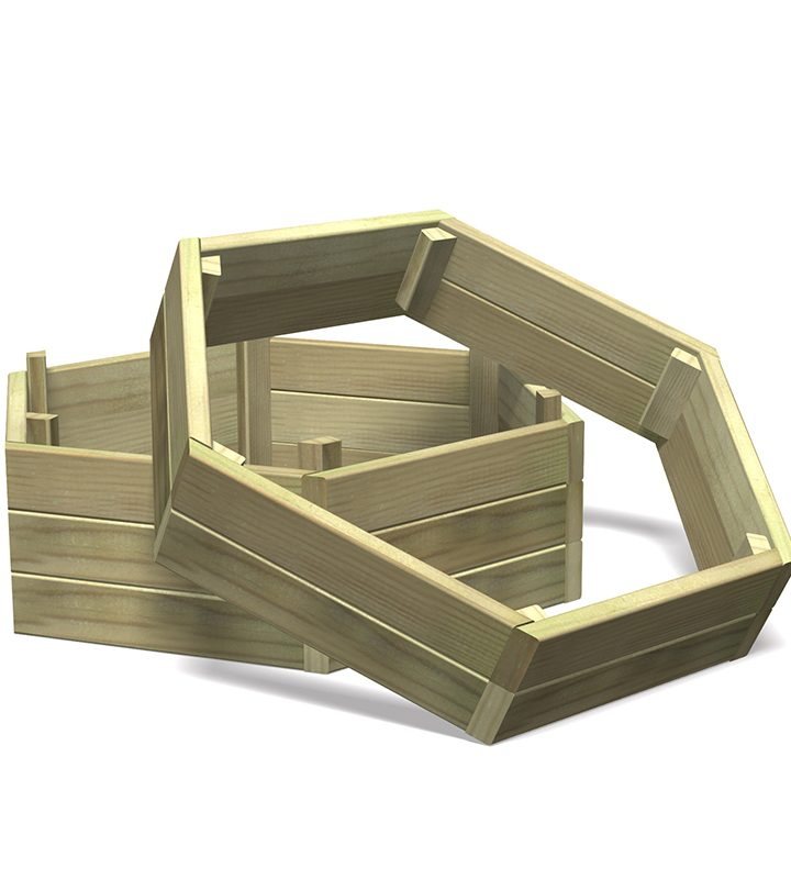 Hexagonal Stacking Planter Base
