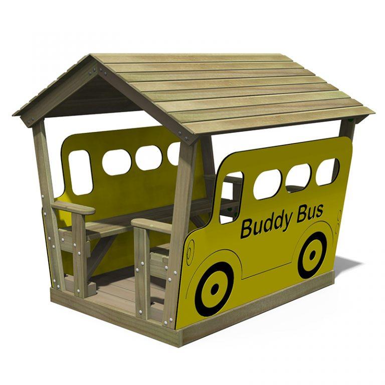 Roofed Buddy Bus Hut