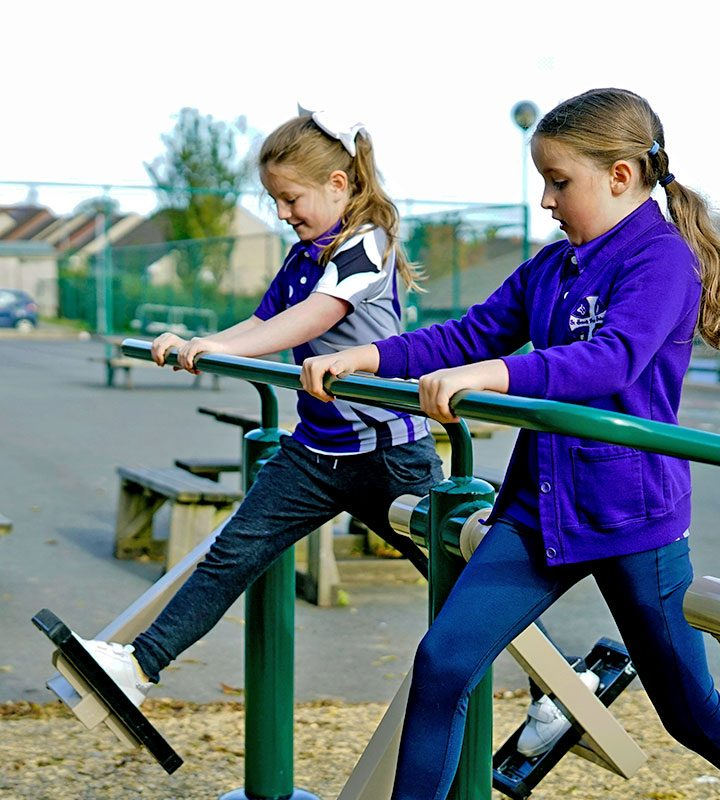 Outdoor Gym Equipment - Children's Air Skier