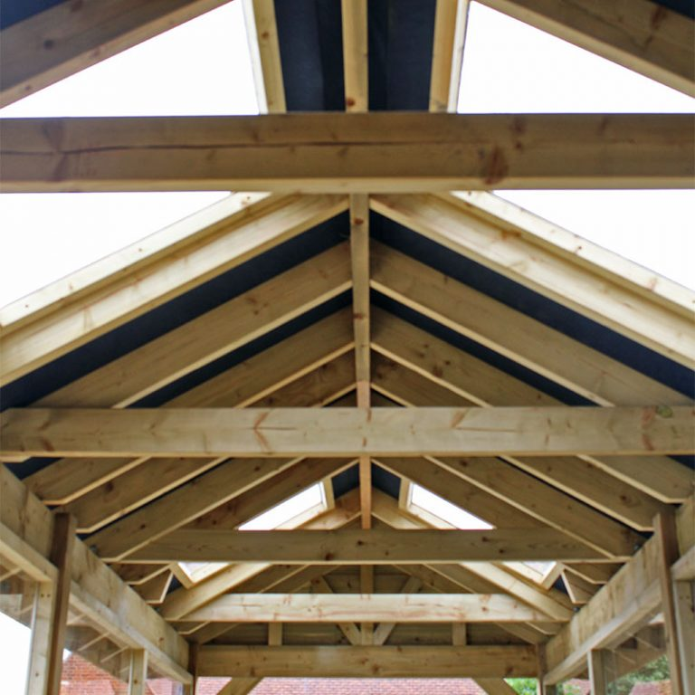 Timber Shelter Roof