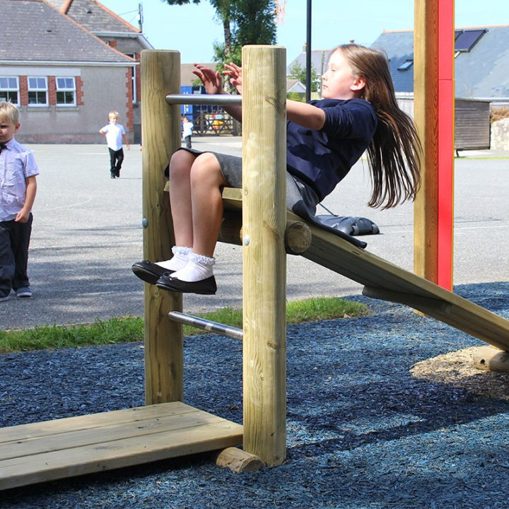 Children's Timber Gym Bench - Sit-Ups