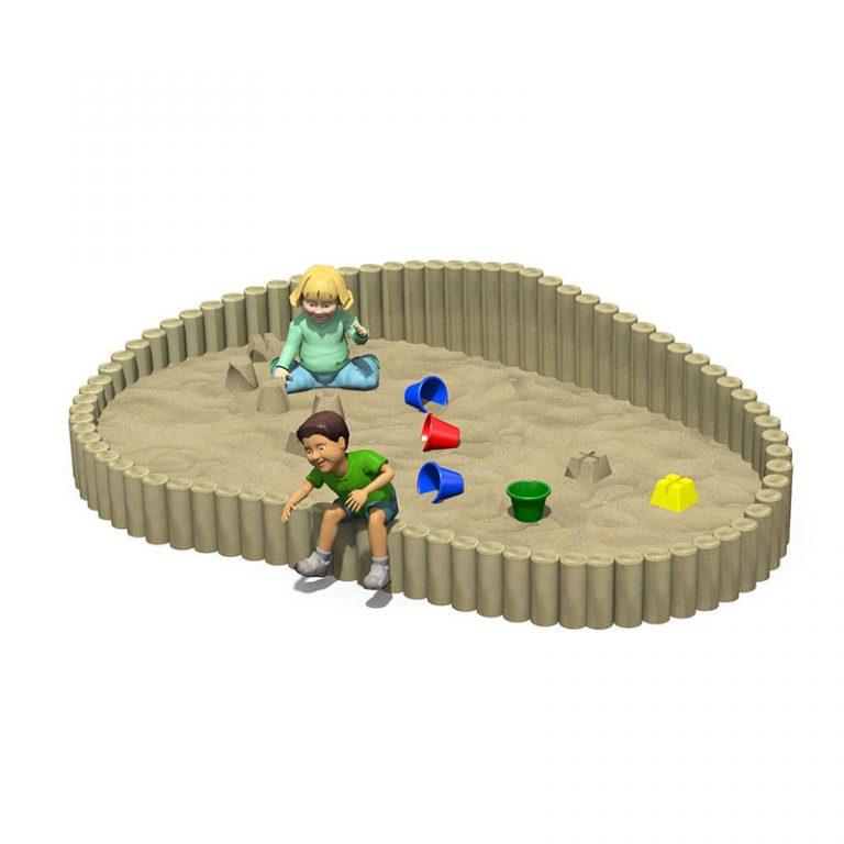 Log Wall Sandpit