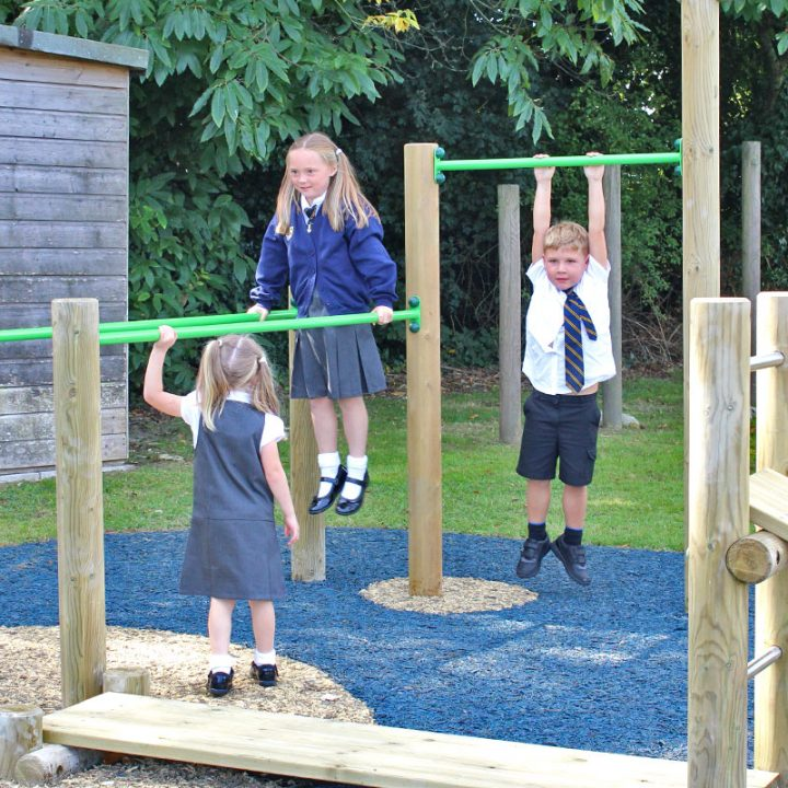 Multi Gym 3 - Outdoor Timber Gym Equipment for Schools