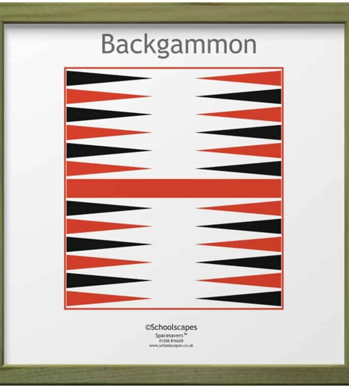 Backgammon Magnetic Wall Game