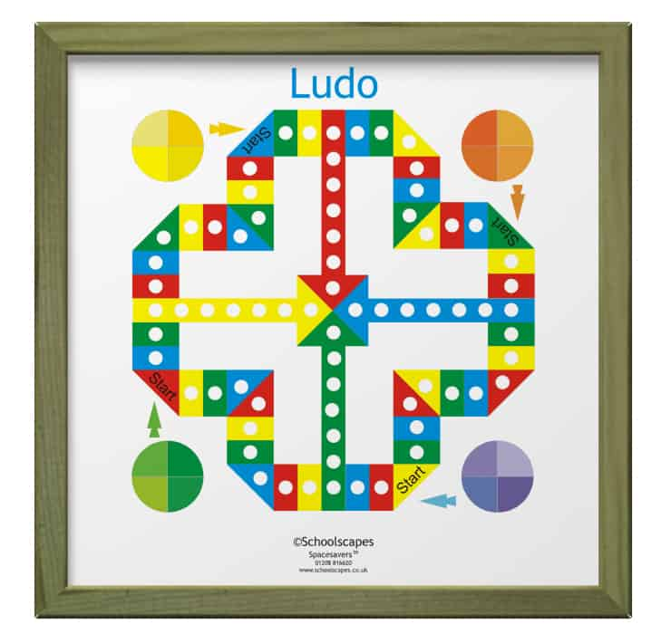 Ludo Magnetic Wall Game