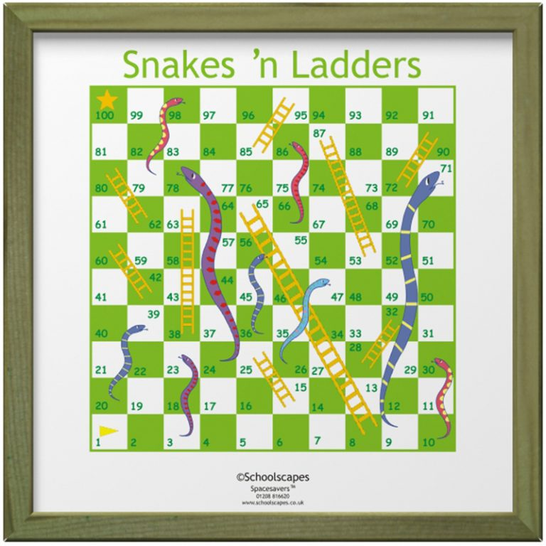 Snakes n' Ladders Magnetic Wall Game