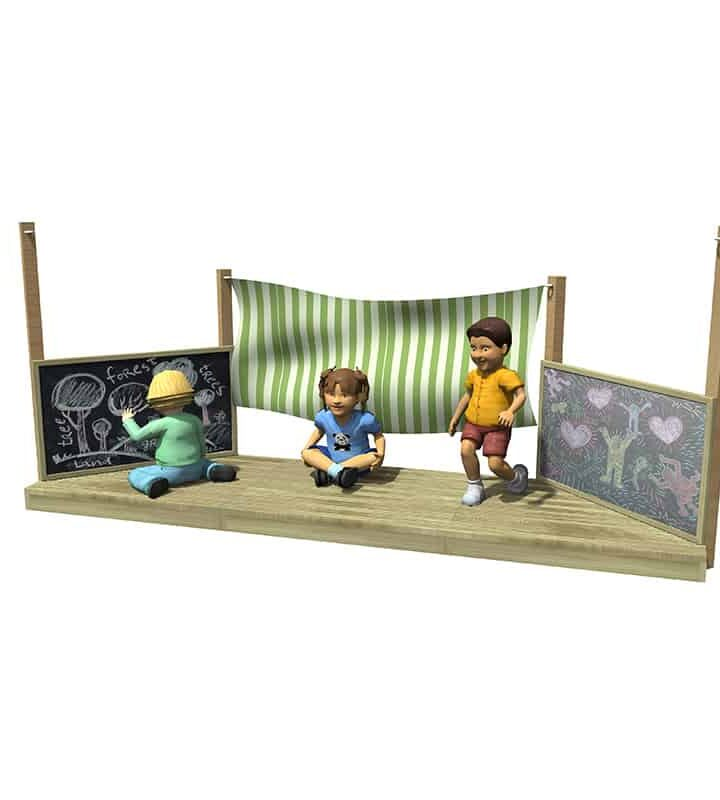 Creativity Stage with markings Render