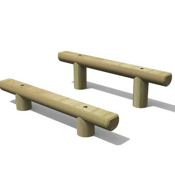 Timber Step & Dip Outdoor Gym Equipment