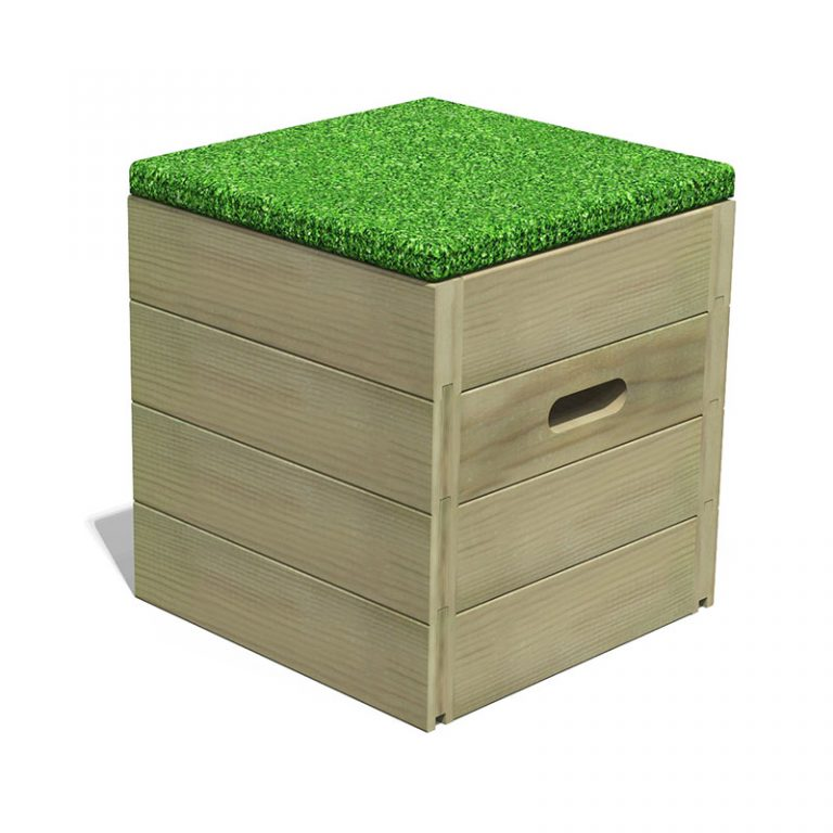 Grass Top Seating Cube