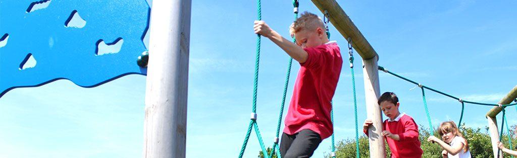 Climbing, swinging, reaching and stretching
