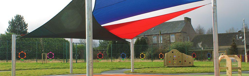 Shady Playground Shelters