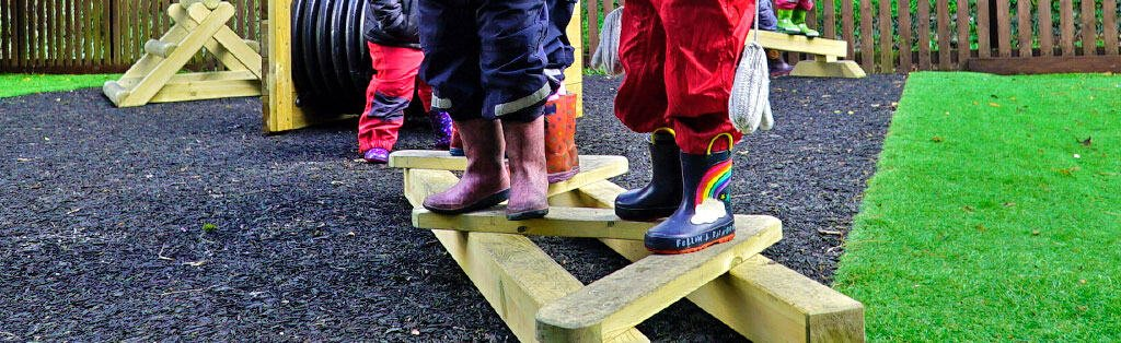 Early Years Zig-Zag Balance Beam